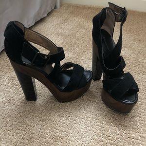 BCBGeneration Black platform heels